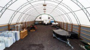 Multi-purpose covered storage