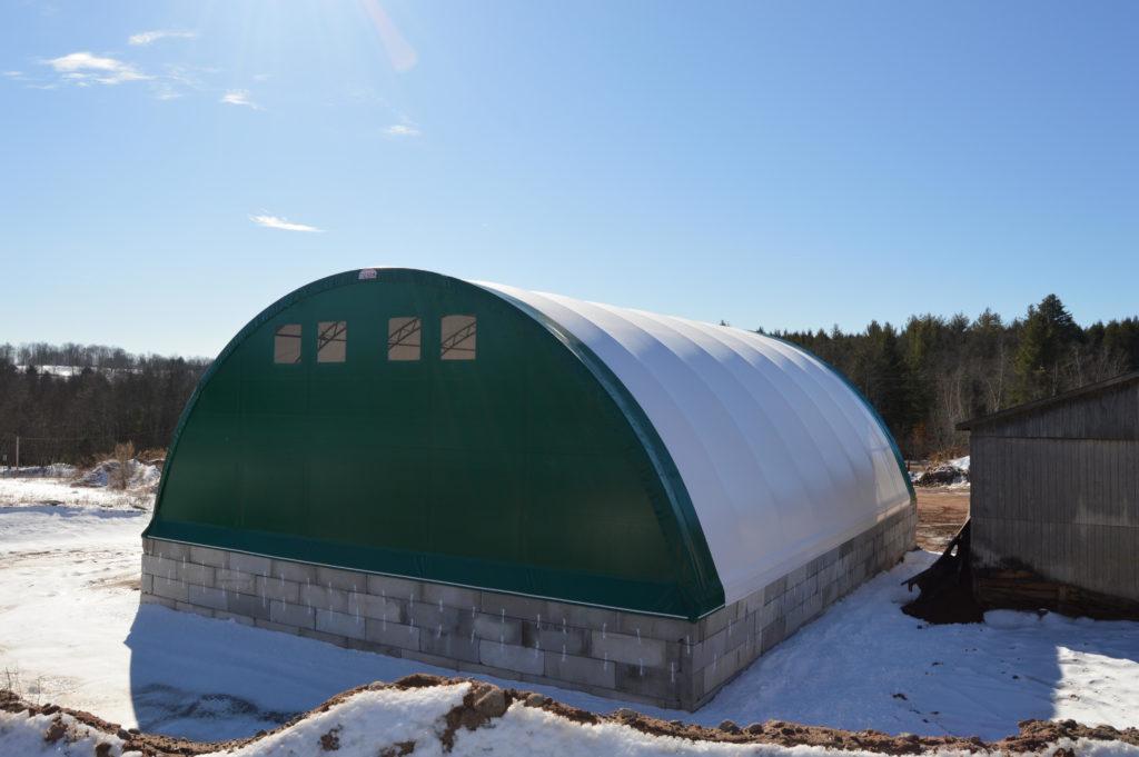 Hybrid Building Solutions Completes 62' x 80' Calhoun CC Series for Salt and Sand Storage