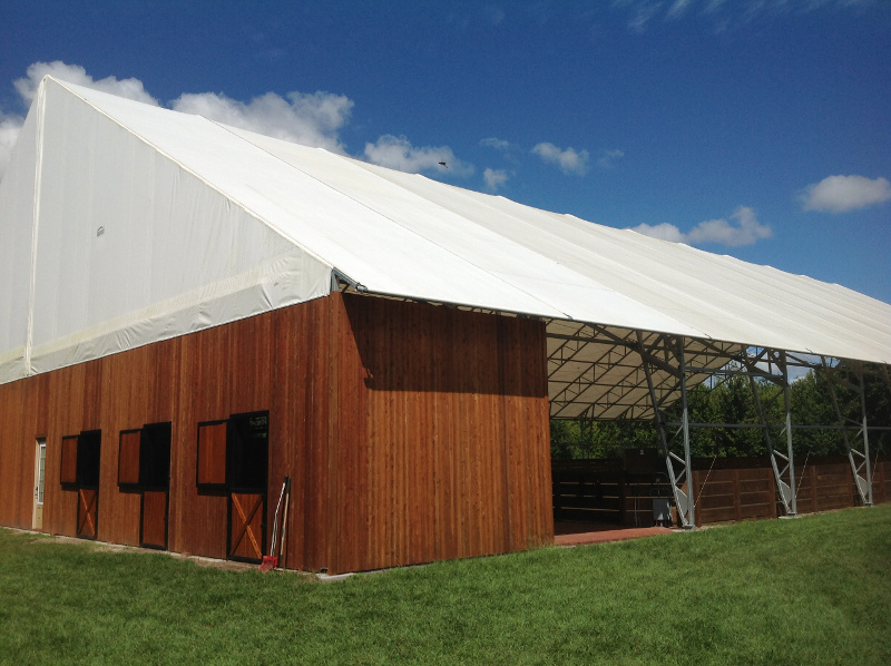 & Coverall Building Installation | Fabric Buildings Photo Gallery
