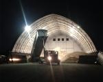 Salt Storage Fabric Building