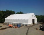 Salt Storage Fabric Building